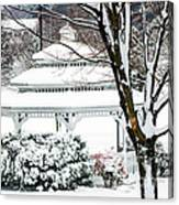 Winter In The Park Canvas Print