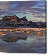 Winter In The Salt Flats Canvas Print