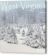 Winter In West Virginia Canvas Print