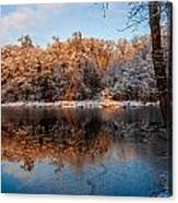 Winter Lake Reflections Canvas Print