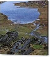 Winter Landscape Detail North Wales Canvas Print