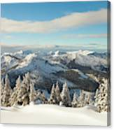Winter Landscape In British Columbia Canvas Print