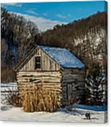 Winter Logcabin Canvas Print