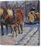 Winter Logging Canvas Print