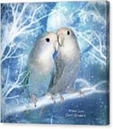 Winter Love Canvas Print