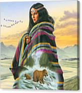 Winter Maiden Canvas Print