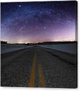 Winter Milky Way Canvas Print