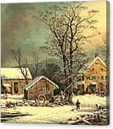 Winter Morning 1863 Canvas Print