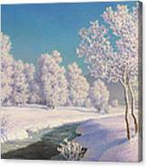 Winter Morning In Engadine Canvas Print
