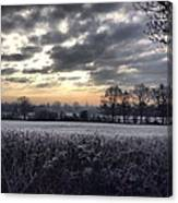 Winter Morning In Kent Canvas Print