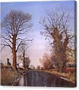Winter Morning On Calverton Lane Canvas Print