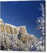 Winter Mountain Landscape Canvas Print