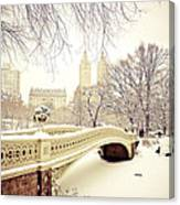 Winter - New York City - Central Park Canvas Print