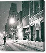 Winter Night - New York City - Lower East Side Canvas Print