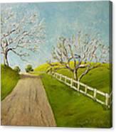 Winter Oaks Canvas Print