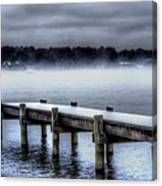 Winter On A Texas Lake Canvas Print