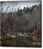Winter On The Eno River At Fews Ford Canvas Print