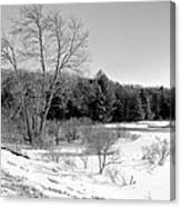 Winter On The Moose River Canvas Print
