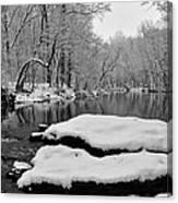Winter On The Wissahickon Creek Canvas Print
