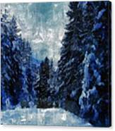 Winter Piny Forest Canvas Print