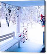 Winter Porch Canvas Print