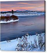 Winter Quiet And Colorful Canvas Print