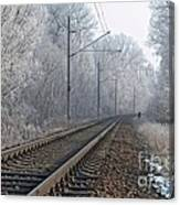 Winter Railroad Canvas Print