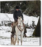 Winter Riding Canvas Print