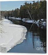 Winter River I Canvas Print