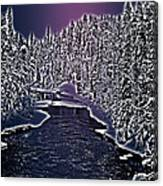 Winter River Oulanka National Park Lapland Finland  Canvas Print