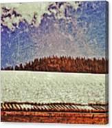Winter Roofline Canvas Print