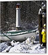 Winter Scene Michigan #1 Canvas Print