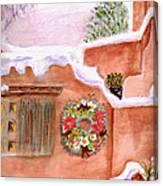 Winter Season Adobe Canvas Print