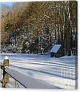 Winter Shack Canvas Print