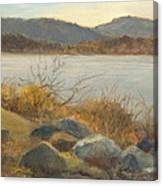 Winter Shoreline Rockland Lake Canvas Print