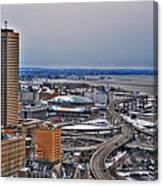 Winter Skyway Downtown Buffalo Ny Canvas Print