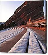 Winter Snow At Red Rocks Amphitheater Canvas Print
