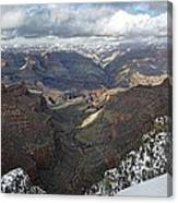 Winter Storm At The Grand Canyon Canvas Print
