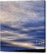 Winter Stormy Sky Canvas Print