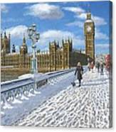 Winter Sun - Houses Of Parliament London Canvas Print