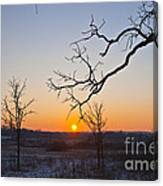 Winter Sun Ornament Canvas Print