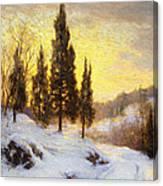 Winter Sundown Canvas Print