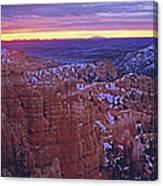 Winter Sunrise At Bryce Canyon Canvas Print