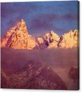 1m9333-winter Sunrise On Teton Range Canvas Print
