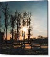 Winter Sunrise On The Farm 01 Canvas Print