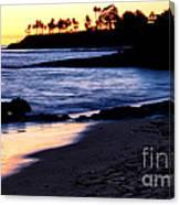 Winter Sunset In Laguna Beach II Canvas Print