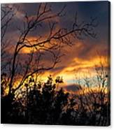 Winter Sunset In The Rogue Valley Canvas Print
