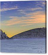 Winter Sunset Over Eagle Lakes Canvas Print
