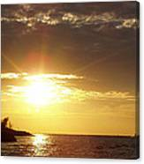 Winter Sunset Over Long Island Canvas Print