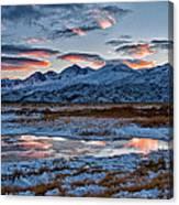 Winter Sunset Reflection Canvas Print